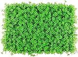 Artificial Pantalla Valla de privacidad Telón de fondo decorativo de hierba para jardín, patio trasero, trébol, verde, panel de cobertura artificial, pared de planta falsa, pantalla de valla de h