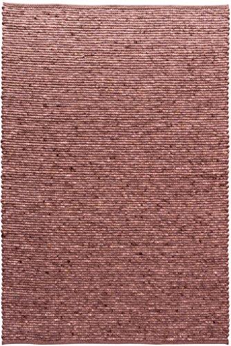 TISCA Teppich aus Schurwolle LIV rot (Verschiedene Größen) 90 x 170 cm