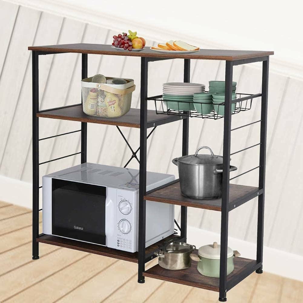 Max 78% OFF LCSA Metal Shelves 3-Tier Microwave Kitche Cart Oven Many popular brands Bakers Rack