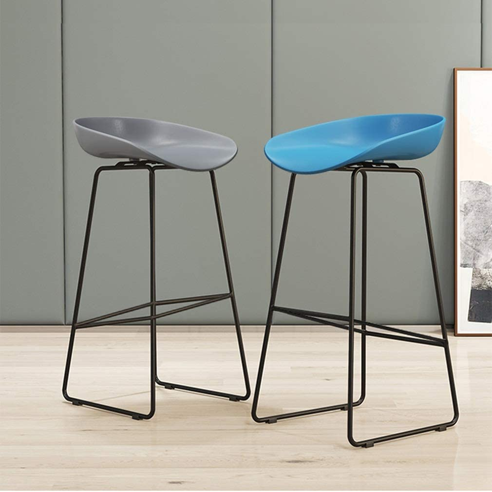 YNGJUEN Chaise Chaise De Dossier De La Barre Fixe De Support Du Matériau 200 Kg De PP Non-toxique Et Sans Saveur 42cm * 44cm * 75cm Bleu Gris Jaune (Color : White) Red