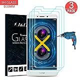 J&D Compatible pour 3-Pack Protection écran Huawei Honor 6X, [Verre Trempé] [Non Couverture...