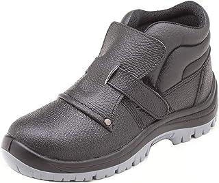 ZYFXZ Hommes Chaussures de sécurité Chaussures de Travail d'hiver imperméables en Cuir de Vache gaufrée Steel Toe Cap en C...