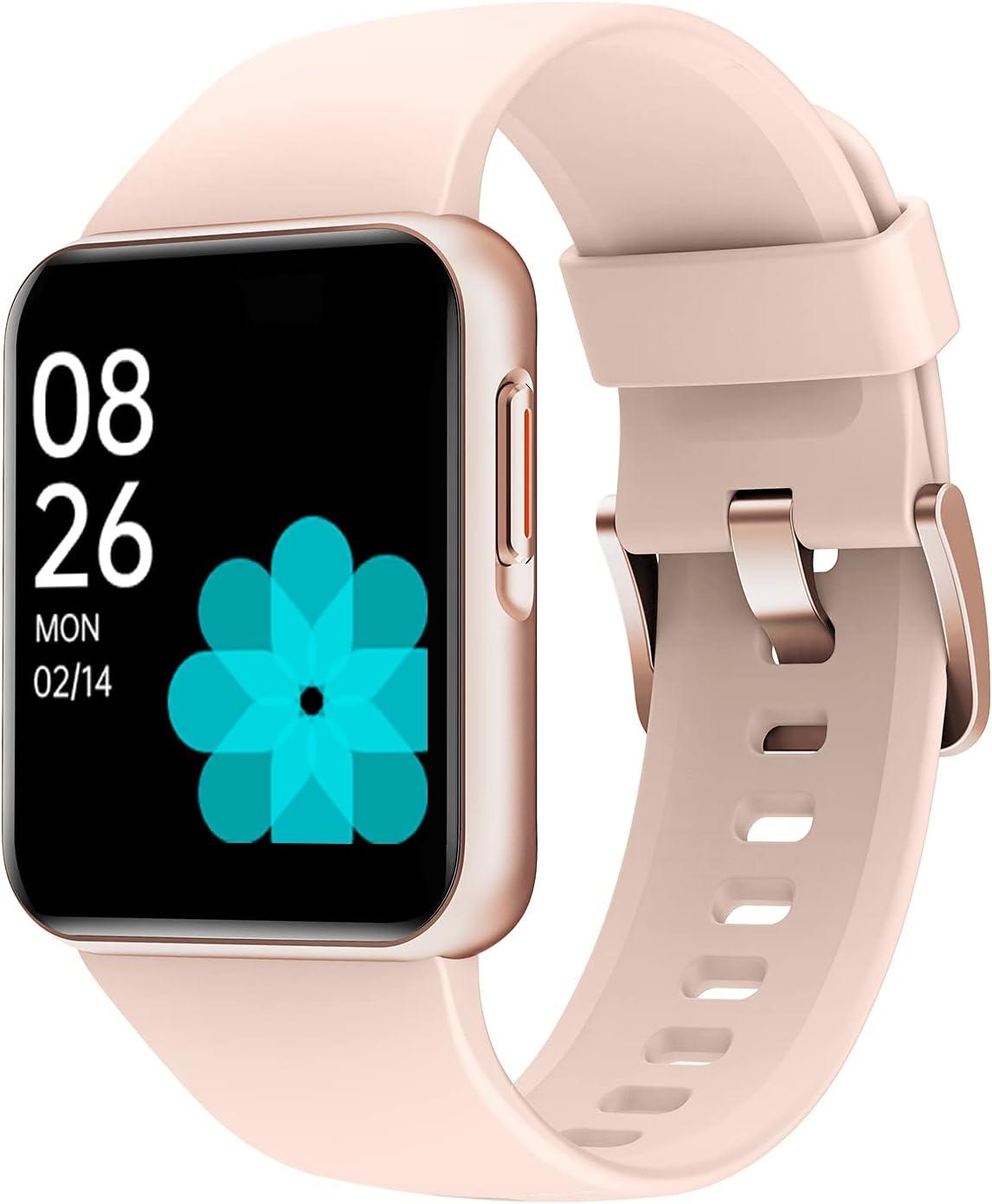 Willful Smart Watch, Reloj Inteligente con 1.46 Pulgadas Táctil Completa IP68 Impermeable, Pulsómetro, Monitor de Sueño, Control de Musica, Pronóstico del Tiempo,Pulsera Actividad para Mujer Hombre