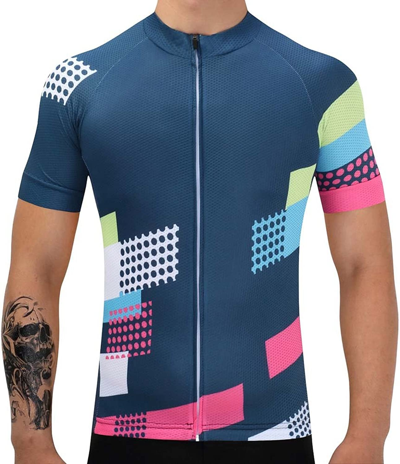 Men's Cycling Short Sleeve, Bicycle Outdoor Sports Breathable Top