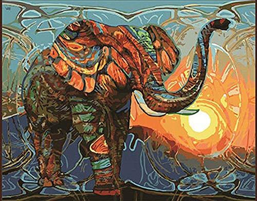dxefdmoin Manual para Colorear Dibujo salón Dormitorio Estudio decoración Pintura Bricolaje Pintura Digital Elefante
