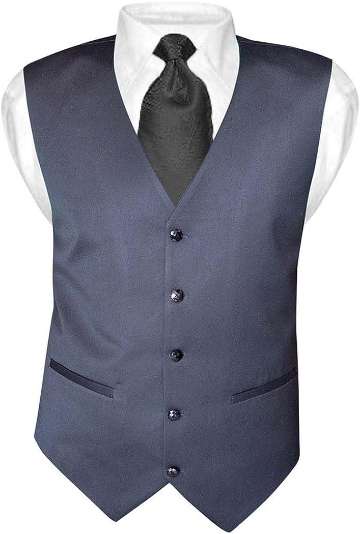 INMONARCH Mens Gray V Vest Double Breasted 5 Button MV04
