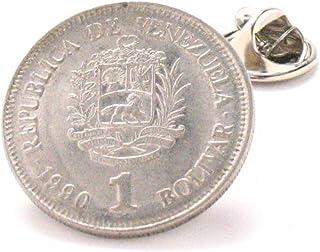 Venezuela Coin Tie Tack Lapel Pin Suit Venezuelan Bandera Corbata Traje Joyas Joyeria Caracas Maracaibo