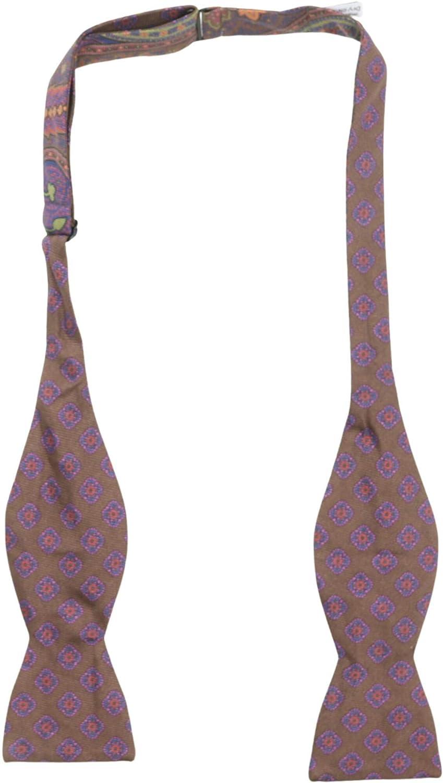 Edward Armah Men's Double Sided Paisley Mandala Bow Tie