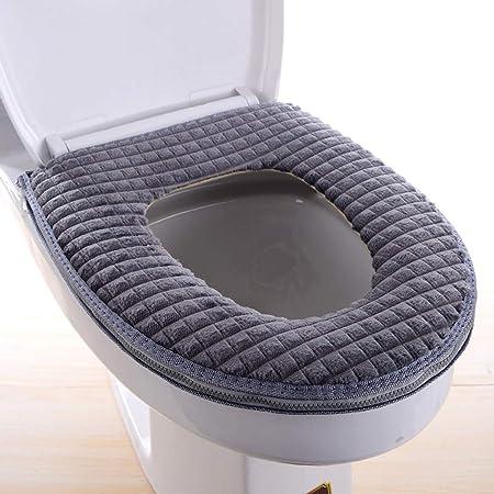 dragonaur Decorative Bathroom Accessory Soft Toilet Seat Cover,Washable Closestool Protector Mat Warm Cushion for Home Hotel Blue