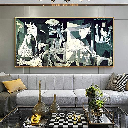KWzEQ Impresiones de lienzos, Cuadros Famosos, Carteles e Impresiones de lienzos, decoración del hogar,Pintura sin Marco,75x168cm
