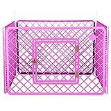 Iris Ohyama, parque para perros / jaula exterior / recinto / perrera 4 vallas - Pet Circle - H-604, plástico, rosa, 6.3 kg, 90 x 90 x 60 cm