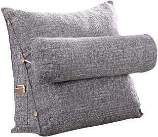 Mignon84Cook Amortiguador del respaldo de la lectura, almohada lumbar del amortiguador del apoyo del triángulo de la cuña del respaldo del cojín para el descanso de cama de la silla de la oficina
