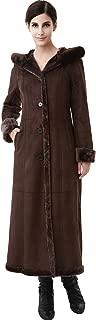 Women's Pauline Hooded Faux Shearling Maxi Walking Coat