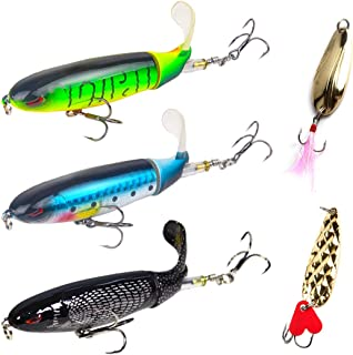 Fishing Lures Whopper Plopper Set,Fishing Lures for Whopper Multi Jointed Swim Baits Slow Sinking Hard Lure Fishing Tackle Kits Lifelike