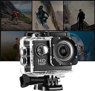 Urisgo - Cámara de vídeo Deportiva (Full Air 1080P 2 Pulgadas Impermeable con Lente Gran Angular de Alta definición 140 °)