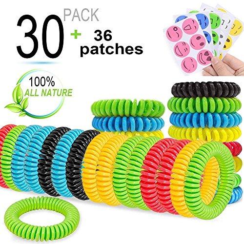 BESTZY 6PCS Bracelet Anti Moustique Bracelets Naturel R/épulsif Anti-moustiques R/églable pour Les Enfants et Les Adultes Ext/érieure Int/érieure