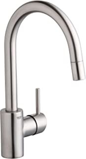 Grohe 32 665 DC0 Concetto Dual Spray Pull-Out Kitchen Faucet, Infinity SuperSteel Finish