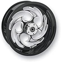 RC Components Chrome Forged Rear Wheel (18in. x 8.5in.) - Savage Eclipse , Color: Black, Position: Rear, Rim Size: 18 SU1885055-85E