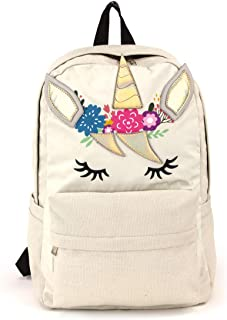 Lightweight Polyester Mystical Shimmer Unicorn Backpack with Padded Shoulder Straps, 17 Inches
