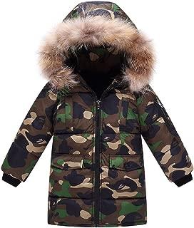 Kids Boys' Winter Camo Padded Puffer Coat with Faux Fur Hood