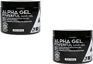 Alpha Hair Styling powerful hair Gel 16 oz -2 pack