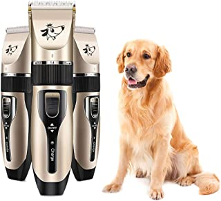 Goolsky Pet Grooming Hair Clipper Rechargeable Low Noise Cordless Dog Cat Rabbit Hair Trimmer Cutter Kit