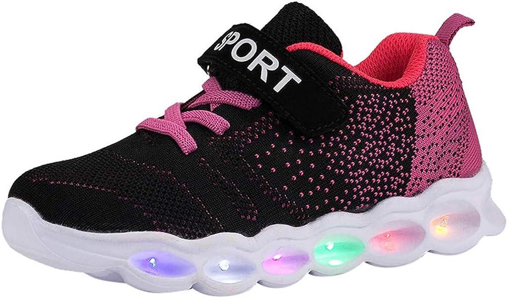 Lazzboy Baskets LED Fille Gar/çon Chaussures de Sport Lumineuses Tout-Petit Jeune