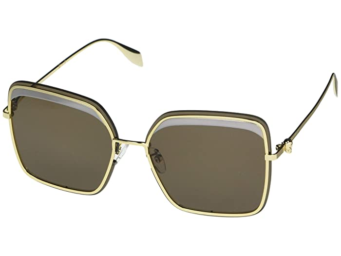 Alexander McQueen  AM0222SK (Gold) Fashion Sunglasses
