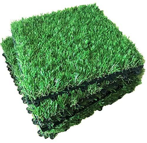 Die berühmten Click-Deck Grasfliesen – Terrasse, Balkon, Dachterrasse, Whirlpool, Gras, Bodenbeläge Kunstrasen, quadratische Fliesen