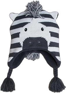 a6eac03afcffb Frbelle® Bébé Enfant Bonnet Chaud Mignon Animal Zèbre Beanie Chapeau  Crochet Tricot Automne Hiver pour