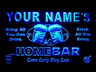 ADVPRO p-tm-b Name Personalized Custom Home Bar Beer Neon Light Sign Blue 16x12 inches