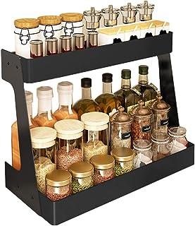 YJKDM Support à Condiments de Cuisine, Support de Rangement de comptoir Multifonctionnel Domestique, Grande capacité et Ra...