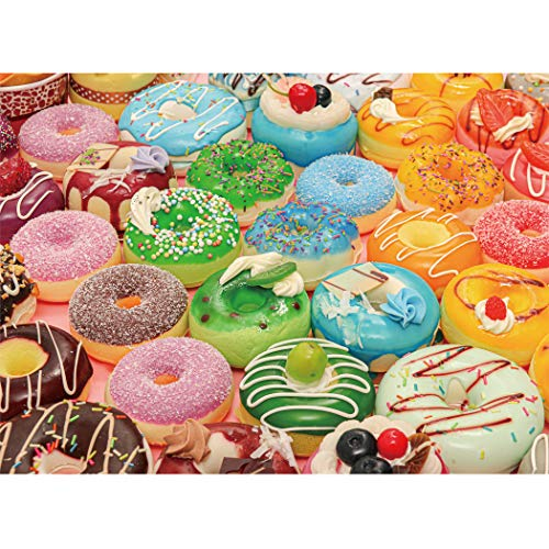 LAVIEVERT 500 Piece Jigsaw Puzzle Game for Adults and Kids - Donuts