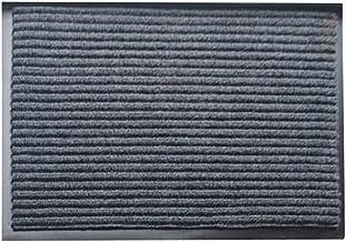 Vosarea Double Stripe Design Entrance Rug Floor Mats Washable Indoor Outdoor Doormat Shoe Scraper Doormat - 40 x 60cm (Grey)