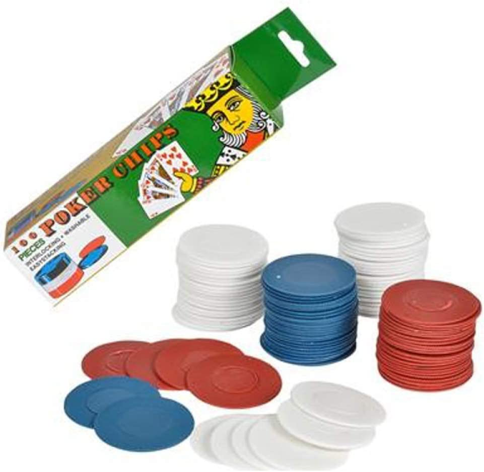 2500 Plastic Poker Chip set - Blue- Red White Limited time sale lot Max 66% OFF bulk