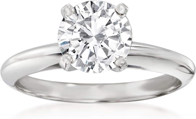 Ross-Simons Platinum 4-Prong Engagement Ring Setting
