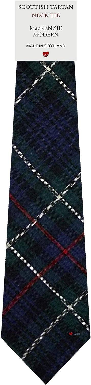 MacKenzie Modern Tartan Plaid 100% Lambswool Scarf & Tie Gift Set
