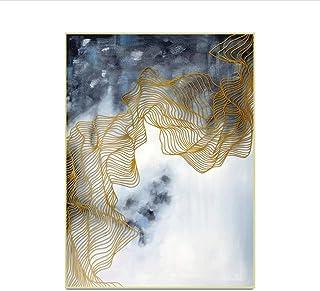 WZHZJ Style Chinois Paysage Abstrait Motif Tapis Anti-dérapant Anti-Rides Accueil Salon Décor Tapis Tapis 100X160cm