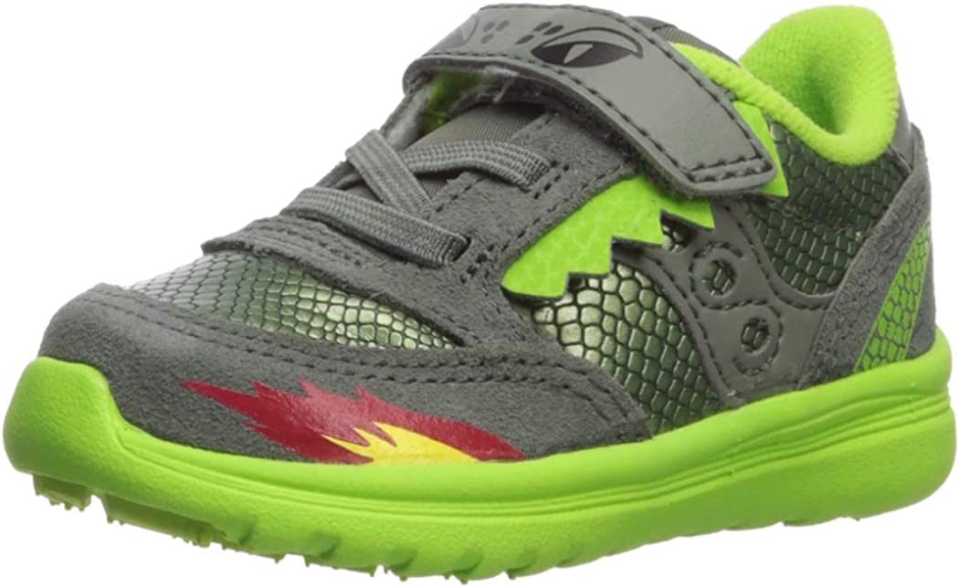 Saucony Baby-Boy's Jazz Lite Sneaker, Green/Dragon, 040 Medium US Toddler