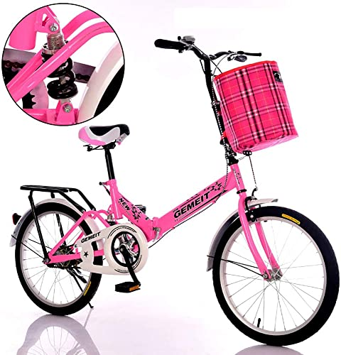 Brougeher's HouseYX Vélo Pliant 16 Pouces 20 Pouces Absorption des Chocs Jeunes vélo Vieux Hommes Femmes étudiants Adultes Enfants Voiture d'enfant