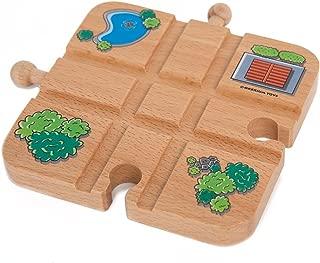 Orbrium Toys Cross Track for Wooden Railway Fits Thomas Brio Melissa & Doug Imaginarium