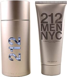 Carolina Herrera 212 2 Pc. Gift Set (Eau De Toilette Spray 3.4 Ounce + Aftershave Gel 3.4 Ounce) for Men, 3.4 Fluid Ounce
