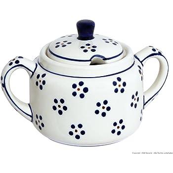 V = 0,35 Liter im Dekor 8 Original Bunzlauer Keramik Zuckerdose