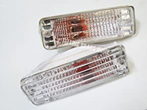 Crystal84-88 Front Bumper Indicator Turn Signal Light Lamp Pair for Toyota Hilux Ln50 Ln56 85 87