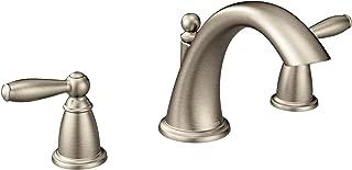 Moen T4943BN Brantford 2-Handle Deck Mount Roman Tub Faucet Trim Kit, Valve Required, Brushed Nickel