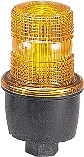 Federal Signal LP3P-120A Streamline Low Profile Strobe Light, Pipe Mount, 120 VAC, Amber