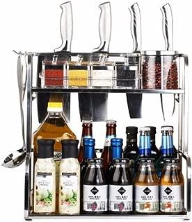 ANTFEES Kitchen Multipurpose Spice Cabinet Racks Organizer, Stainless Steel Seasoning Shelves Kitchen Storage Holder(11.8