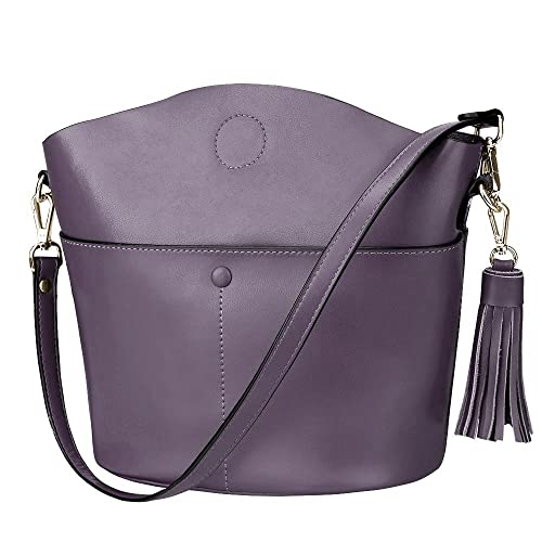 S-ZONE Women s Small Cowhide Genuine Leather Purse Handbag Tassel Crossbody  Shoulder Bag 44cc02a03a009