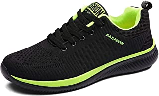 DAVAS Men's Fashion Flying Weaving Mesh Lightweight Breathable Athletic Gym Shoes Running Walking Sneakers