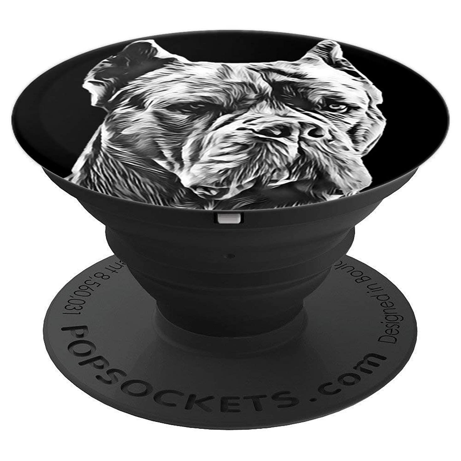 Cane Corso Italian Mastiff Giant Guard Dog Pet Portrait - PopSockets Grip and Stand for Phones and Tablets